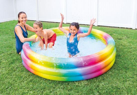 Intex napihljiv bazen 58449, mavrični