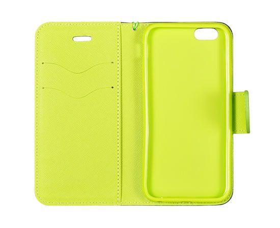 Telone Etui Fancy Book case do Xiaomi Mi 5S - granatowo-limonkowa
