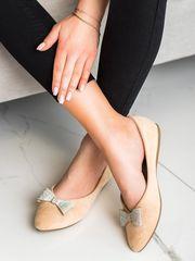 Vinceza Női balerina cipő 69512, bézs és barna árnyalat, 36