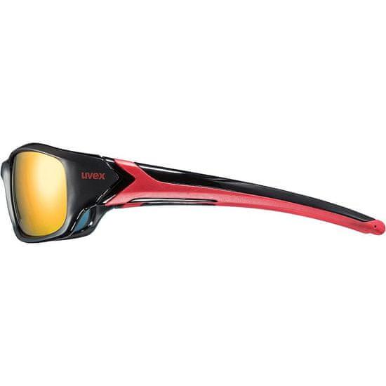 Uvex Sportstyle 211 sončna očala, črno-rdeča