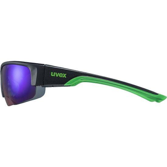 Uvex Sportstyle 215 sončna očala, mat črno-zelena