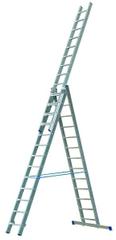 ELKOP Univerzálny 3-dielny, výsuvný rebrík VHR Profi 3x13