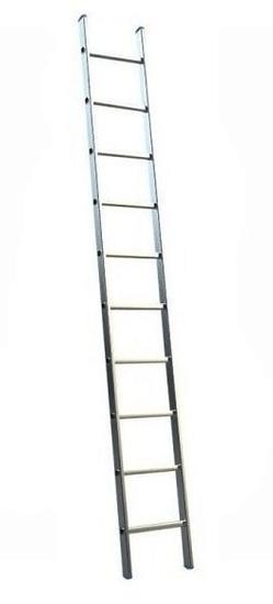ELKOP Oporný hliníkový rebrík VHR Hobby 1x10 priečok, rebrik
