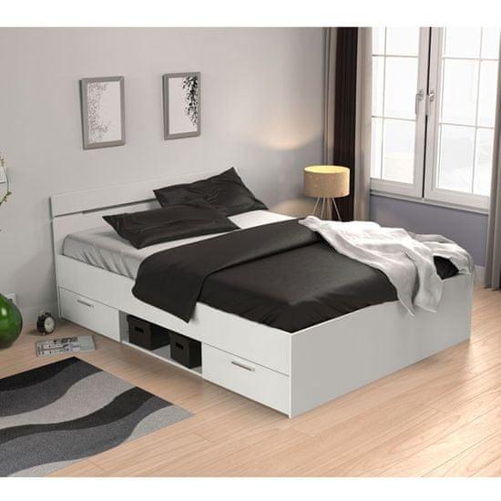 krevet Loti, 140x200, bijela