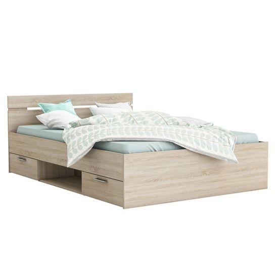 krevet Loti 140x200, sonoma hrast