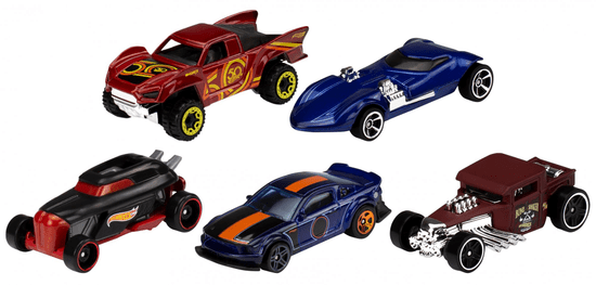 Hot Wheels dirkalni avtomobil, angleški, 5 kosov