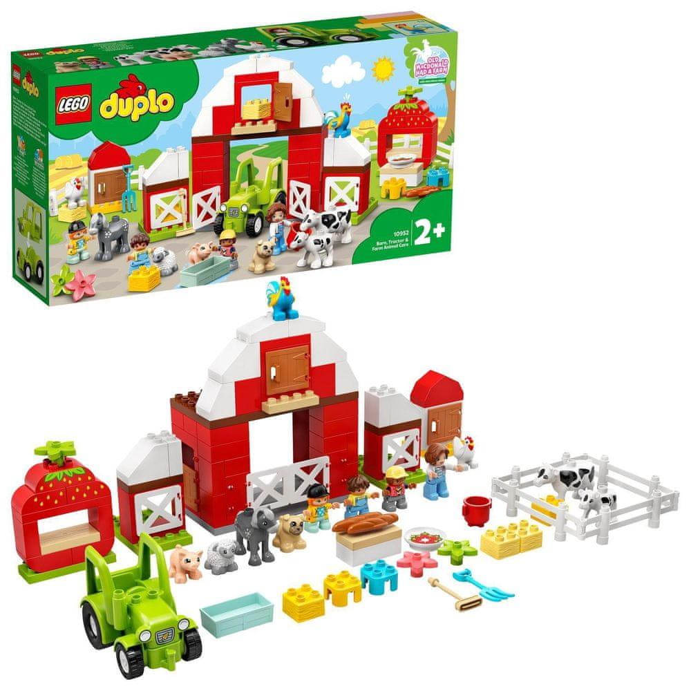 LEGO DUPLO® Town 10952 Stodola, traktor a zvířátka z farmy