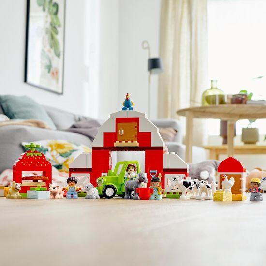LEGO zestaw DUPLO® Town 10952 Stodoła, traktor i zwierzęta z farmy