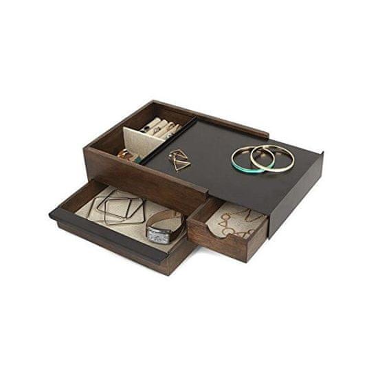 Umbra Škatla za nakit STOWIT oreh / črna 290245048