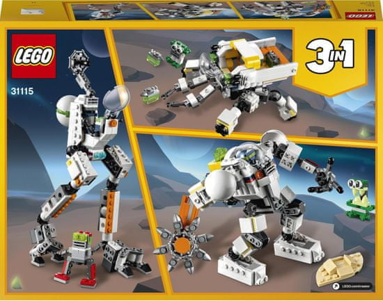 LEGO zestaw Creator 31115 Kosmiczny robot górniczy