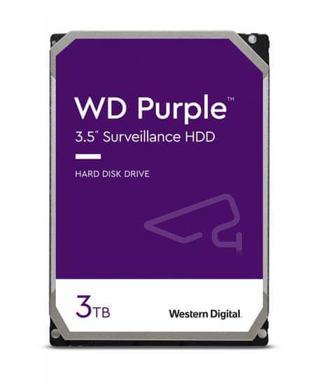 Western Digital tvrdi disk Purple 3TB SATA3 6Gb/s, 5400,