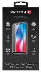 SWISSTEN zaščitno steklo Ultra Durable 3D Full Glue Glass Samsung Galaxy S21 64701875, črno