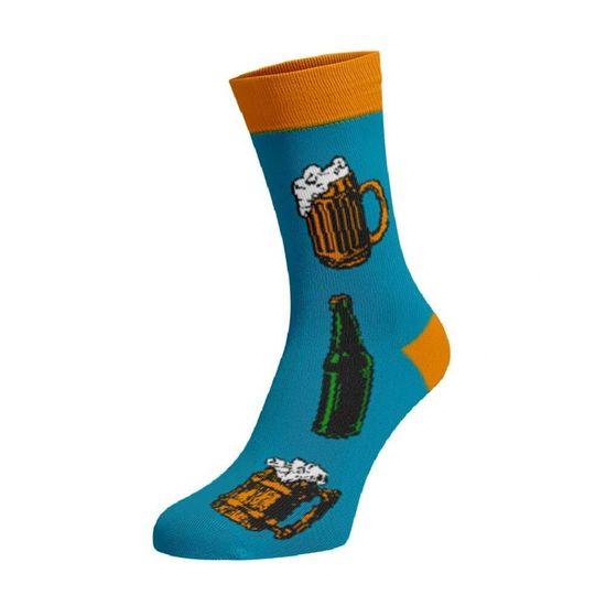 BENAMI Veselé pivní ponožky Jdem na pivo Blankytná Bavlna 35-38