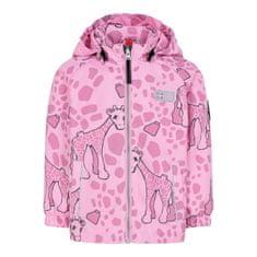LEGO Wear dekliška jakna Jeddy LW-11010132, 80, roza