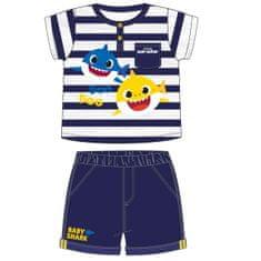 Disney 2200006959 Baby Shark otroški komplet majice in kratkih hlač, moder, 92