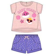 Disney 2200006961 Baby Shark dekliški komplet majice in kratkih hlač, roza, 92