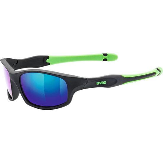 Uvex dječje sunčane naočale Sportstyle 507 Black Mat Green (2716)