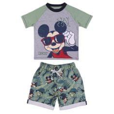 Disney 2200006977 Mickey komplet majice i kratkih hlača za dječake, zeleni, 92