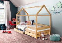 Svět-pokojů Dětská domečková postel Mike bílá 200 x 90 cm