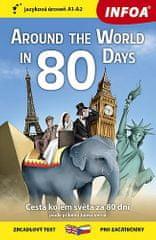 Jules Verne: Cesta kolem světa za 80 dní / Around The World in 80 Days - Zrcadlová četba (A1-A2)