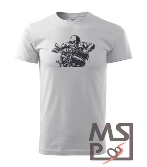 MSP Pánske tričko s moto motívom 96 Kostlivec XS