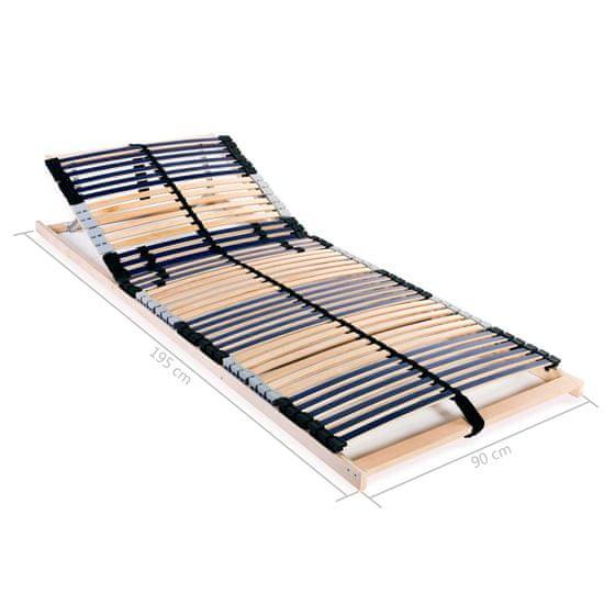 shumee Lamelový posteľný rošt so 42 lamelami a 7 zónami 90x200 cm