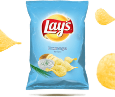 Lays Smažené bramborové lupínky s příchutí smetanového sýra a bylin 140g