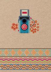 FANDY Fotoalbum 10x15 200 foto Snapshot 1 modrý aparát