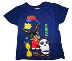 Bing Chlapecké modré tričko s krátkým rukávem a obrázkem králíčka Binga., 104