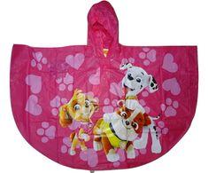 Nickelodeon Dívčí tmavě růžová pončo pláštěnka s pejsky Tlapkové patroly. Vel:110 - 116