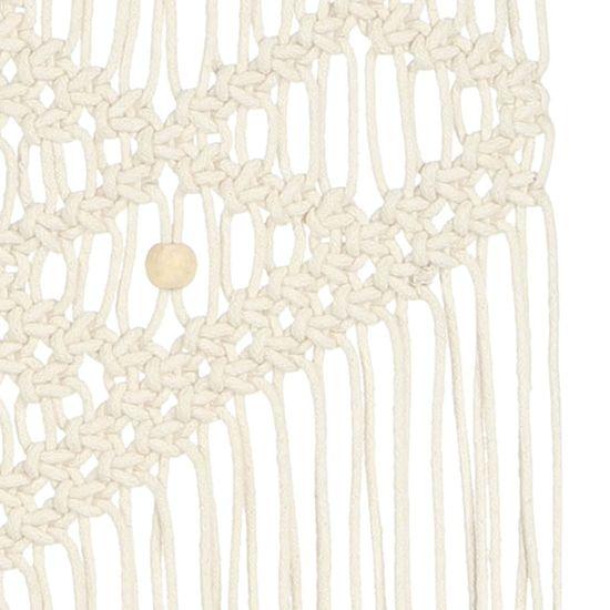 shumee Nástěnný závěs macramé 40 x 80 cm bavlna