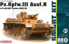 Dragon Model Kit military 6956 - Pz.Kpfw.III Ausf.N s.Pz.Abt.501 Tunisia 1942/43 (Neo Smart Kit) (1:35)
