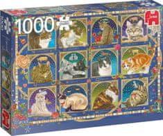 Jumbo Puzzle Kočičí horoskop 1000 dílků