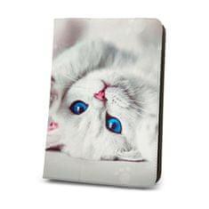 Forever Knížkové pouzdro (Fashion) Cute Kitty univerzální 7-8″ GSM094413