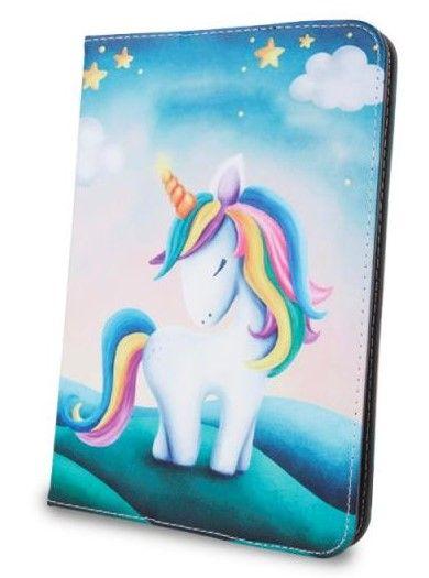 Forever Knížkové pouzdro (Fashion) Unicorn univerzální 7-8″ GSM041316