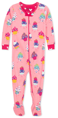 Hatley Dancing Cupcakes S20CCI202 pidžama za djevojčice od organskog pamuka, 56 - 58, ružičasta