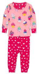 Hatley Dancing Cupcakes S20CCI1237 pidžama za djevojčice od organskog pamuka, 56-69, ružičasta