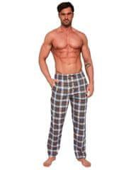Cornette Pánské pyžamové kalhoty Cornette 691/30 662402 džínová/hořčicová S