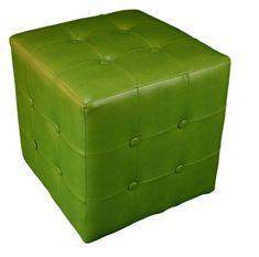 Dekko Tabure, živo zelena, 38x38x38 cm