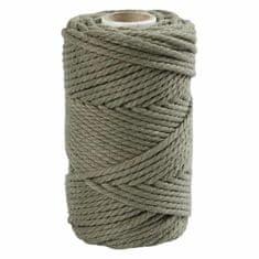 Kraftika Macramé příze 4mm mechově zelená, vlna, textil hedvábí