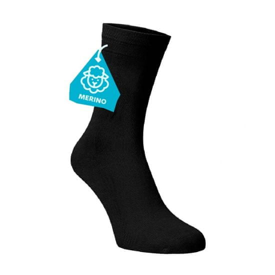 BENAMI Černé ponožky MERINO Černá Merino 35-38