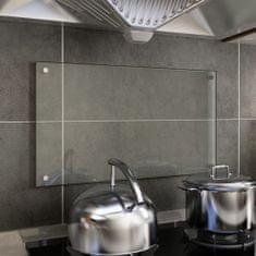 shumee Kuhinjska zaščitna obloga prozorna 70x40 cm kaljeno steklo