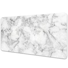 Kobercomat Veľká podložka na stôl biely mramor 50x100cm