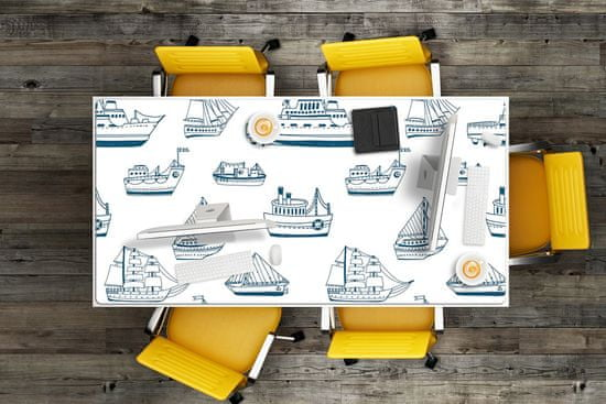 Kobercomat Ochranná podložka na stôl blue lode