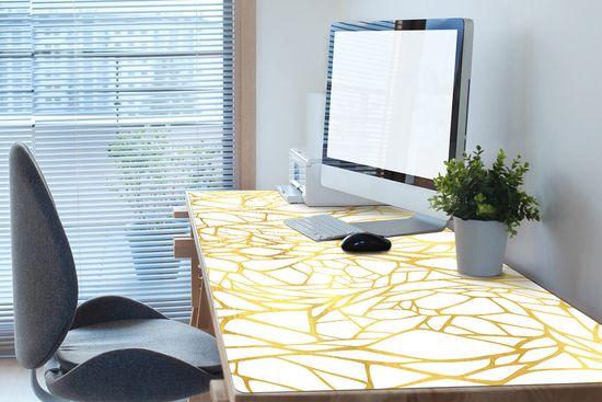 Kobercomat Podložka na písací stôl zlatá ozdoba