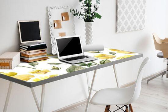 Kobercomat Veľká podložka na stôl žlté kvety