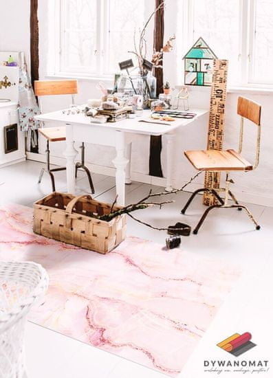Kobercomat Vnútorné vinylový koberec ružový mramor