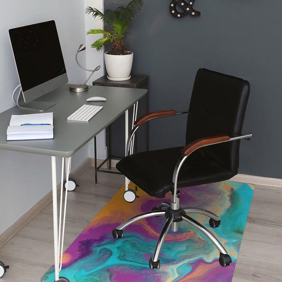 Kobercomat Ochranná podložka pod stoličku farebné vzory