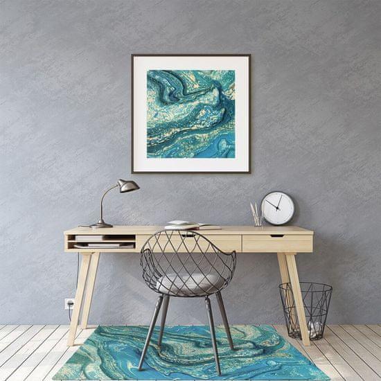 kobercomat.sk Podložka pod stoličku abstrakcie modré