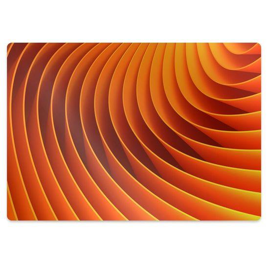 kobercomat.sk Podložka pod kancelársku stoličku oranžové vlny